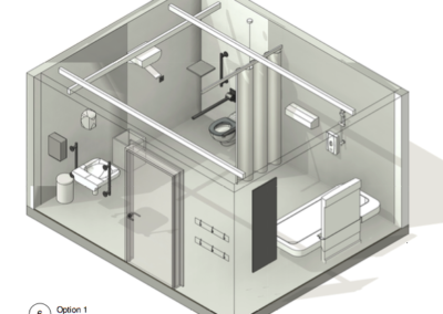 3D Schematic of Option 1 WashPod for Changing Places