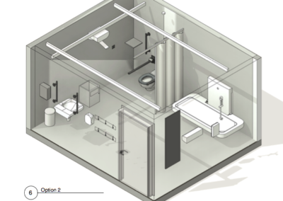 3D Schematic of Option 2 WashPod for Changing Places