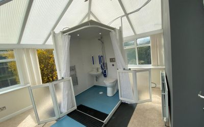 West Yorkshire Client Enjoys a Micro WashPod in the Conservatory