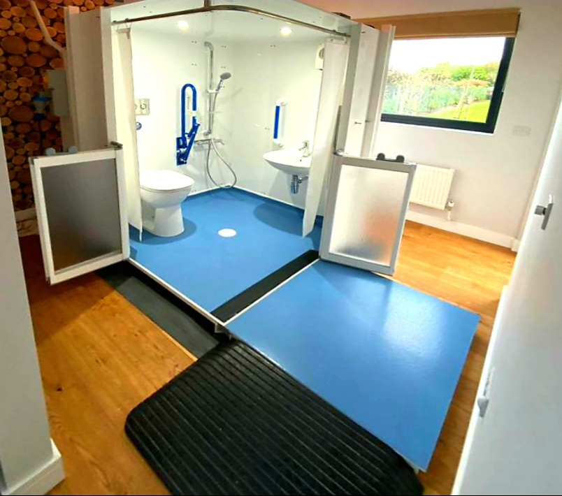 Photo of a Micro WashPod temporary disabled wetroom