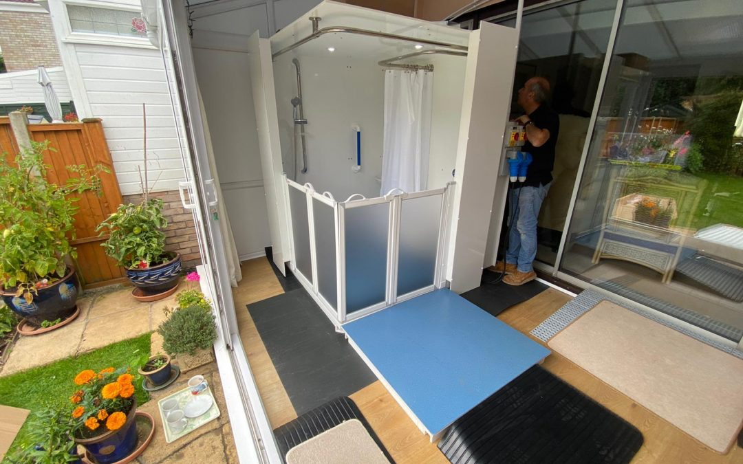 WashPod temporary disabled wetroom gives some freedoms back to Mother battling with Motor Neurone Disease